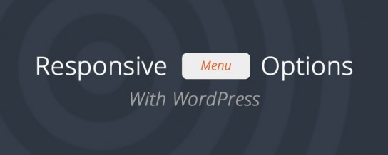 WordPress responsive navigation options
