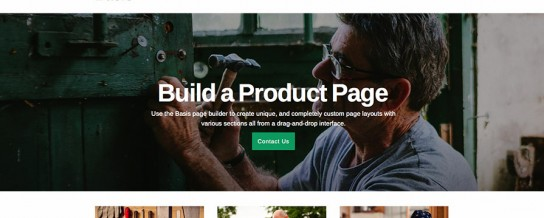 Basis, a business theme with an intuitive content builder