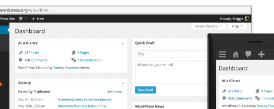Meet WordPress 3.8, Parker