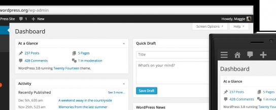 Meet WordPress 3.8, Parker