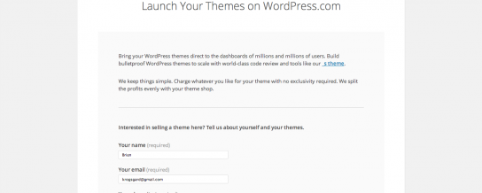 WordPress.com has opened applications for commercial themes