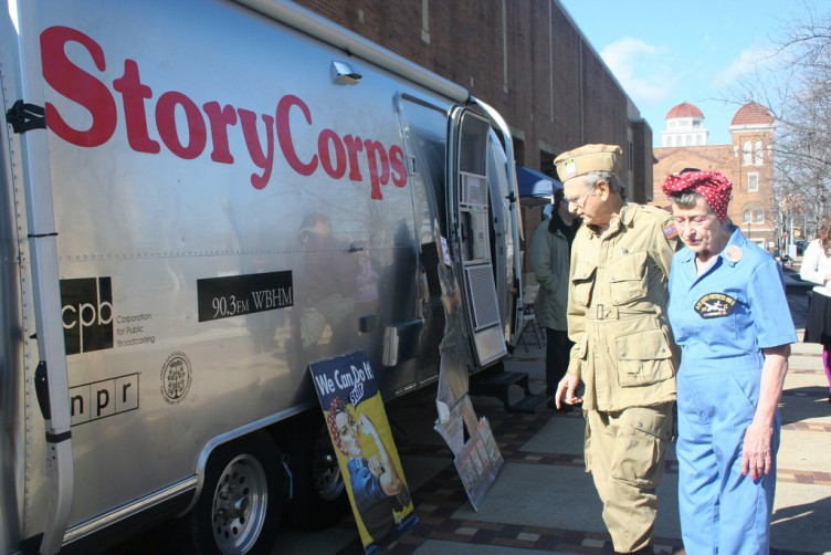 The StoryCorps MobileBooth. Credit: StoryCorps Flickr