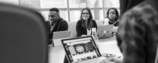 diversity: ethnically and gender-diverse people at a conference table